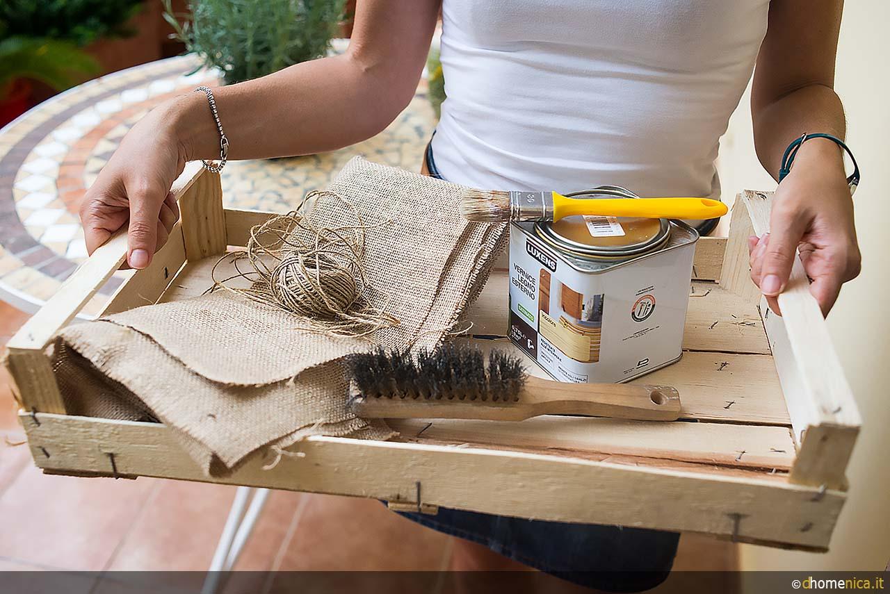 Cassette Della Frutta Legno tutorial: trasformare una cassetta in legno in un vassoio